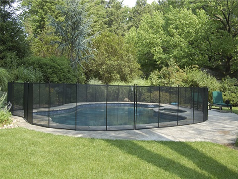 4 ft black pool fence