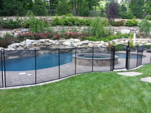 black pool fence installed in Boonton, NJ