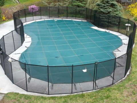 Free Form Pool Fence Installed