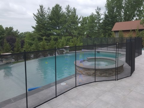 Pool Fence Deck Installation