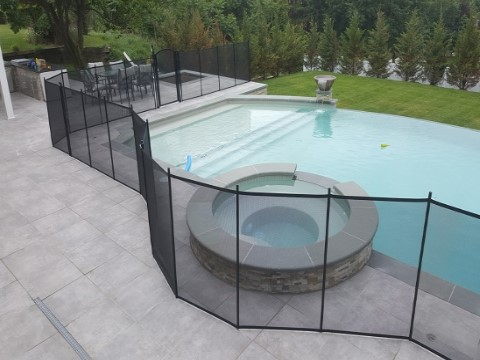 Pool Fence utilized as natural barrier