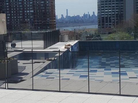 rooftop installed pool fencing