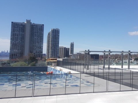 Rooftop Installed Pool Fence in Fort Lee, New Jersey