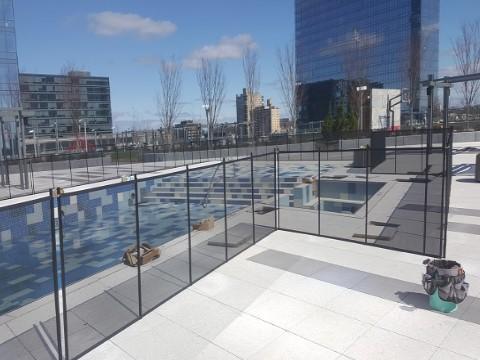 Mesh Pool Fencing Installed in Fort Lee, NJ