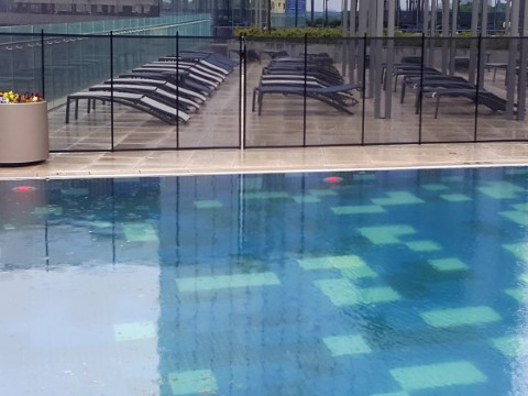 transparency of black mesh pool fence