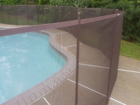Transparent Brown Mesh Fence