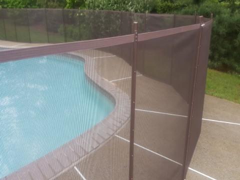 Transparent Brown Mesh Fence