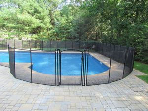 self-latching, self-closing pool gate New Jersey