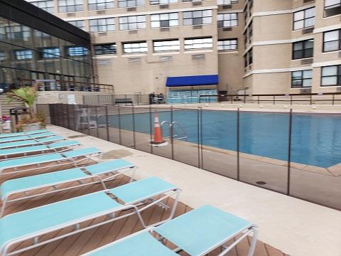 brown mesh pool fencing