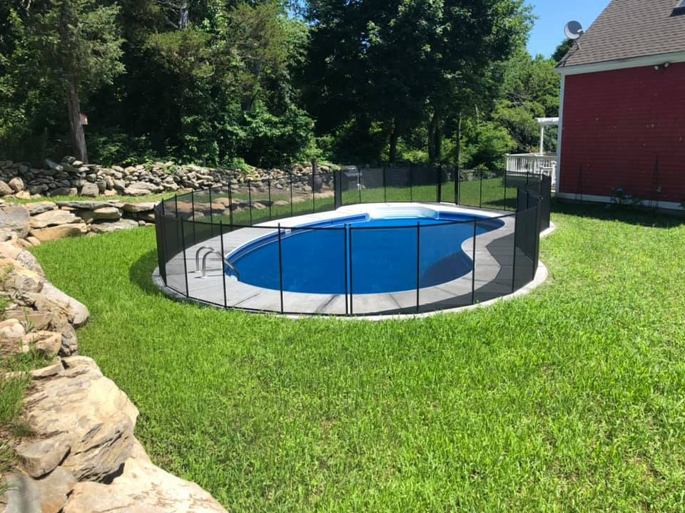pool fence installation in Wayne Township