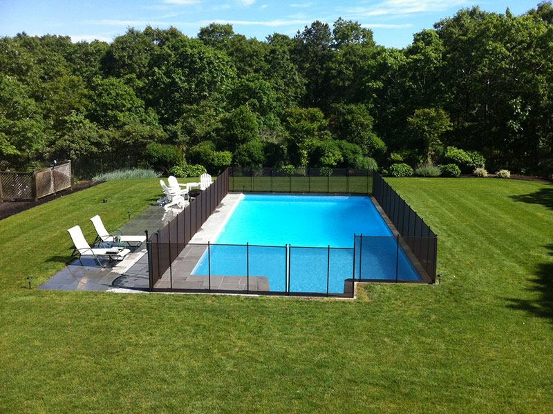 removable mesh pool fencing installed in Wayne Township